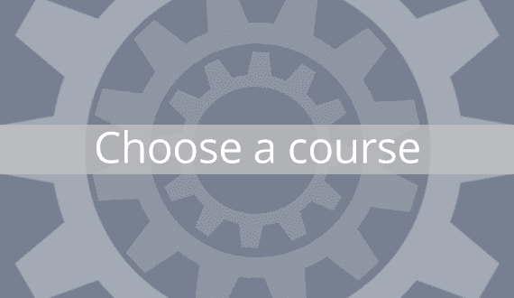 Choose one of the eight surrounding courses to begin.