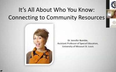 It's All About Who You Know: Connecting to Community Resources