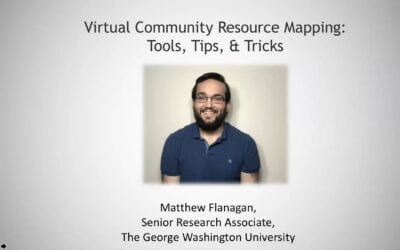 Virtual Community Resource Maps: Tools, Tips and Tricks